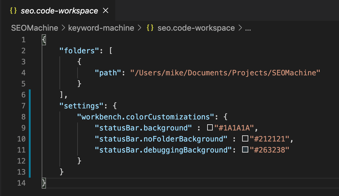 Workspace Settings VSCode